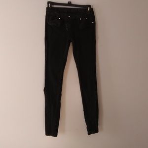 Almost Famous Black w/ faux snake skin jeans